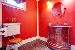 Bathroom with antique vanity Royalty Free Stock Photos