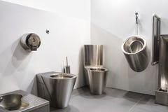 Bathroom antivandal sink toilet bowl stainless steel sink vandal-proof toilet Royalty Free Stock Images