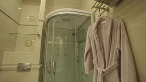 Bathroom in apartments. Wide shot stock video footage