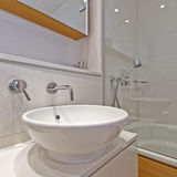 Bathroom appliances. Detail shot of luxury modern bathroom appliances Stock Images