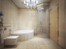 Bathroom  Art Deco style. Royalty Free Stock Photo