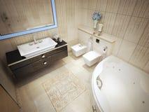 Bathroom avant-garde style Stock Images