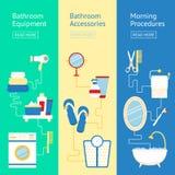 Bathroom banner set Stock Images
