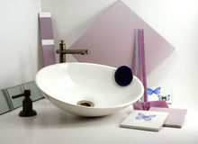 Bathroom Basin Sink. Beautifuls Taps. and accesories. Royalty Free Stock Images