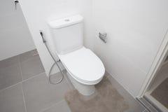 Bathroom basin. White bathroom basin at home stock photos