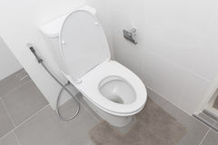 Bathroom basin. White bathroom basin at home royalty free stock images