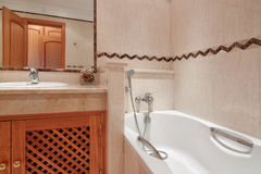 Bathroom with bath in a hotel. Stock Images