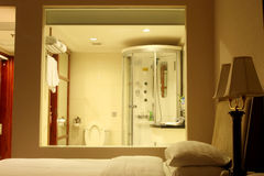 BATHROOM AND BEDROOM Royalty Free Stock Photography