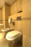 Bathroom with bidet and wc. Elegance bathroom interior with toilet and bidet Royalty Free Stock Photography