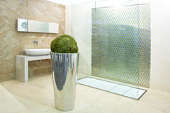 Bathroom big shower Stock Images