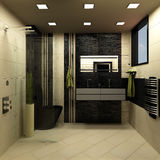 Bathroom black design Stock Image