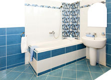 Bathroom blue Royalty Free Stock Images