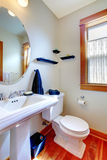 Bathroom with blue towels Royalty Free Stock Image