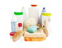 Bathroom and body-care products Stock Photos