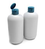 Bathroom bottles isolated Stock Images