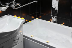 Bathroom, candles Royalty Free Stock Image