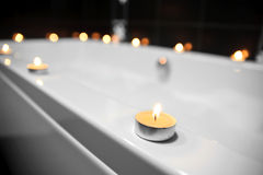 Bathroom, candles Stock Photos