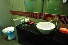Bathroom in chic resort Royalty Free Stock Image