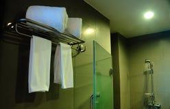 Bathroom in chic resort Stock Images