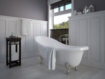 Bathroom. Classic bathroom in a home royalty free illustration