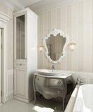 Bathroom classic style Stock Image