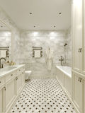Bathroom classic style. 3d images Royalty Free Stock Photo