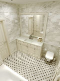 Bathroom classic style Royalty Free Stock Photography