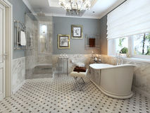 Bathroom classic style Royalty Free Stock Photos
