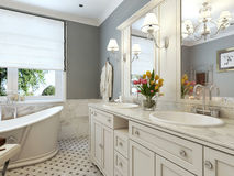 Bathroom classic style Royalty Free Stock Images