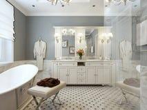 Bathroom classic style Stock Photography
