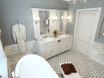 Bathroom classic style Stock Images
