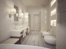 Bathroom classic style Stock Photos