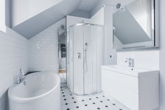 Bathroom in classic style Royalty Free Stock Images