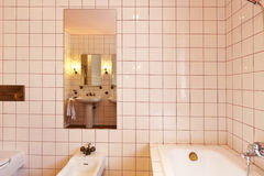 Bathroom in classical style Royalty Free Stock Image