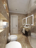 Bathroom classical style Stock Photos