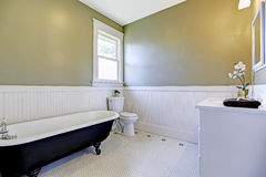 Bathroom with claw foot tub Royalty Free Stock Image