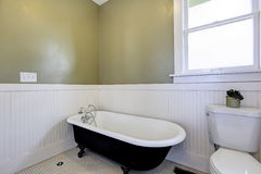 Bathroom with claw foot tub Stock Image