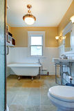 Bathroom with claw foot tub Stock Photography