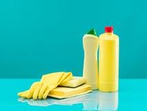 Bathroom cleaning equipment Stock Photo