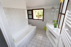 Bathroom clear and top view Stock Photo