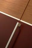 Bathroom closet. Wooden bathroom closet detail for furniture stock image