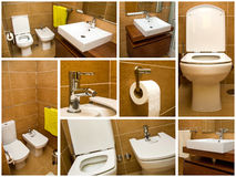 Bathroom collage Stock Image