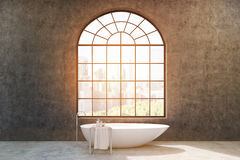 Bathroom with concrete walls, toned Royalty Free Stock Images