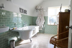 Bathroom Of Contemporary Family Home Stock Image