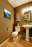 Bathroom corner with toilet and washstand Stock Photo