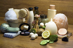 Bathroom cosmetics Royalty Free Stock Images