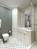 Bathroom country style Royalty Free Stock Image