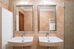 Bathroom for a couple Stock Photography
