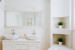 Bathroom for a couple Stock Photo