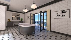 Bathroom. 3D CG rendering of the fancy bathroom Royalty Free Stock Photos